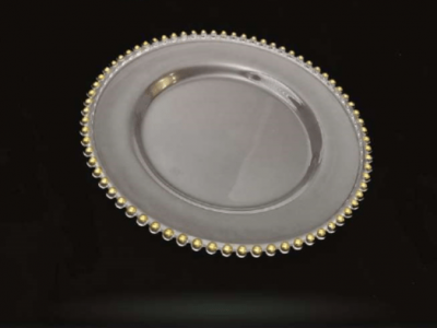 Gold Ring Glass Charger Plate